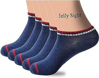 5 أزواج من الملابس الصيفية جوارب قطنية نقية للرجال جوارب رياضية للتعرق والترفيه، جوارب رجالية قطنية نقية