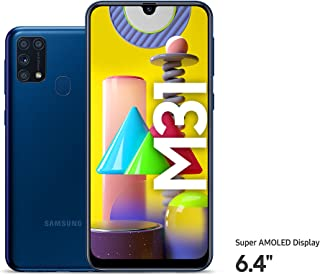 Samsung Galaxy M31 Dual SIM, 128GB, 6GB RAM, 4G LTE, UAE Version - Blue - 1 year local brand warranty