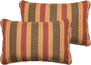Mozaic Company Sunbrella Indoor/ Outdoor 12 by 18-inch Corded Pillow, Dimone Sequoia, Set of 2