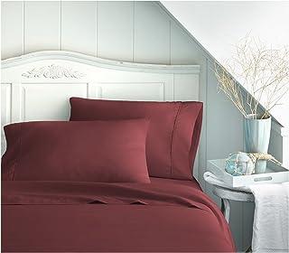 ienjoy Home BC-3PC-TWINXL-BURGUNDY 3 Piece Quality Sheet Set, Twin X-Large, Burgundy