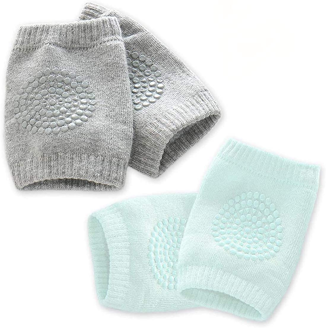 Kalevel Baby Crawling Knee Pads Anti Slip Protectors for Baby Boy Girl (2 Pairs)