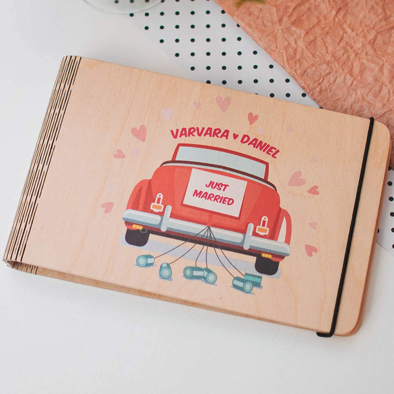 Max 87% OFF Wooden Custom Book Wedding Scrapbook Gift Lar It is very popular Album Memory Photo