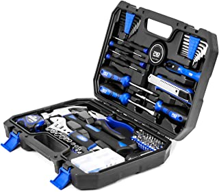 120-Piece Home Repair Tool Set, PROSTORMER General Household DIY Tool Kit with Tool Box Storage Case for House, Office, Do...