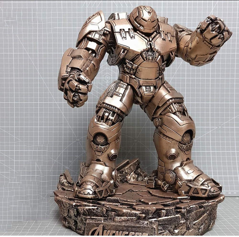 QYZHCP Iron Man Spielzeugmodell, Anti-Olk-Rüstung Iron Man Avengers Action Figure - Abnehmbarer Stnder (Farbe   B)