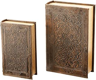 BNFUSA Maxam Faux Book Safe for Hiding and Protecting Valuables or Keeping them Secret, Set of 2