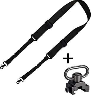 BOOSTEADY 2 Point Traditional Gun Sling Shoulder Strap Trigger Snap with QD Swivel Mount Adjustable