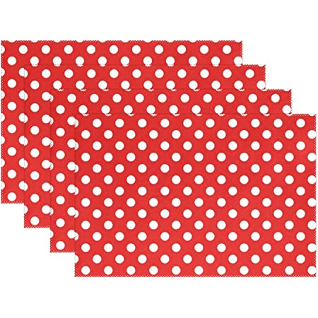 Placemats White Orange Polka Dots Set of 2 Reversible Placemats Colorful Polka Dots in Green Purple with a Orange Reverse Side
