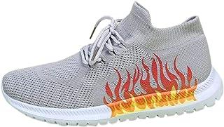 DAIFINEY Modieuze vrijetijdsschoen voor dames, sneakers, vlamdruk, lichte modieuze turnschoenen, vrije tijd, ademend, spor...