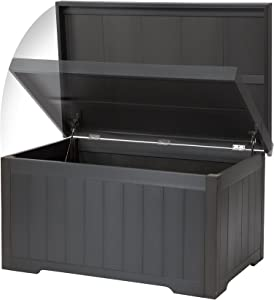 Trinity THBGR-3108 Outdoor Deck Box, 70 Gallon, Slate Gray