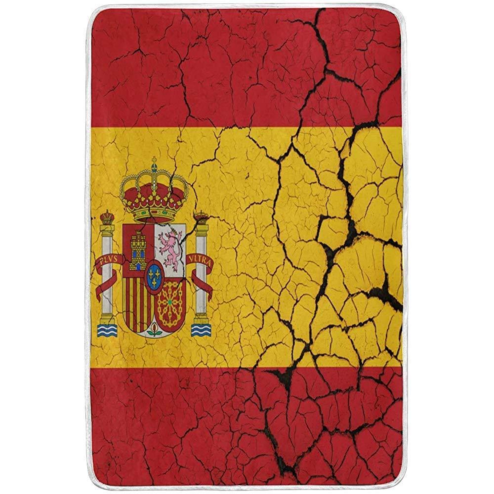 Gustave Tomlinson Bandera de España con Emblema Mantas Suaves y cálidas de Manta Terciopelo Ligero Manta de Microfibra de Felpa Corta: Amazon.es: Hogar