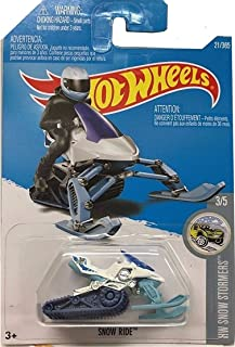 Hot Wheels 2017 HW Snow Stormers Snow Ride (Snow Mobile) 21/365, White and Light Blue