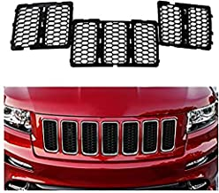 JeCar Front Grille Inserts Mesh Honeycomb for 2014-2016 Jeep Grand Cherokee