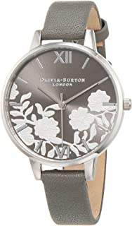 Olivia Burton Womens Quartz Watch, Analog Display and Leather Strap OB16MV96