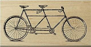 P11 Tandem bicycle rubber stamp WM 2.25x1.2
