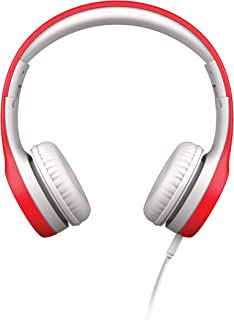 LilGadgets Connect+ Kids Premium Volume Limited Wired Headphones with SharePort (Children, Toddlers) - Red