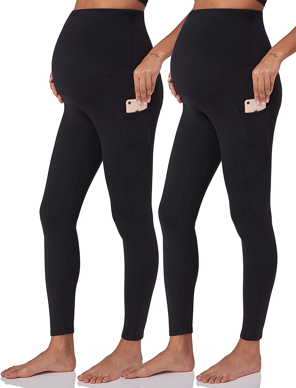 POSHDIVAH Women's Maternity Fleece Very popular! Lined Dallas Mall Belly Over Leggings The