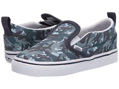 Vans Kids Slip-On V (Infant/Toddler) ((Animal Camo) Parisian Night/True White) Boys Shoes