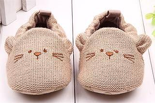WIN ビーシューズ ファーストシューズ ビー 子供 靴 赤ちゃん 滑め防ぐ靴 室内履き ルームシューズ ソフトソール 出産お祝いプレゼントにも (11cm, ネズミ)