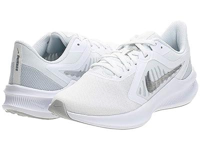 Nike Downshifter 10 (White/Metallic Silver/Pure Platinum) Women