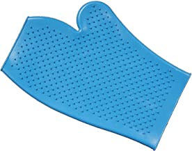 Tough 1 Tough-1 Rubber Grooming Glove, Turquoise