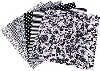 Artibetter 7 Piezas Tela Floral Tela de Algodón Tela de Retazos Material de Bricolaje Cuadrados Patrón Floral Algodón para...