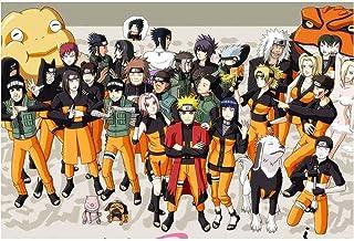 Jqchw Regalos de madera del rompecabezas de dibujos animados anime Naruto Jigsaw Puzzle 1000 piezas de colección en caja Puzzle Naruto la película cómica cartel Rompecabezas Juguetes for adultos desco