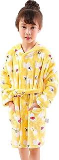 77608440422d8 KRAFBEAN Robe de Chambre en Flanelle Bébé Garçon Fille Automne Hiver  Peignoir de Bain avec Capuche