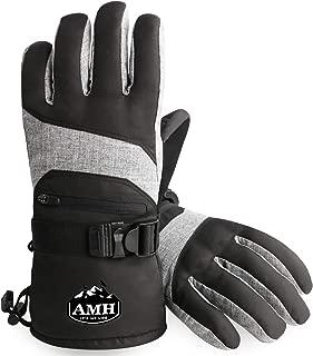 AMH Ski & Snowboard Men & Women Gloves Winter Warm 3M Thinsulate Waterproof Cold Weather Gloves