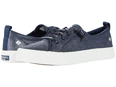Sperry Crest Vibe Sparkle Textile (Navy) Women