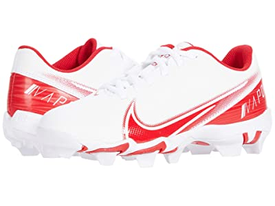 Nike Kids Vapor Shark BG Football (Toddler/Little Kid/Big Kid) (White/University Red/White) Kids Shoes