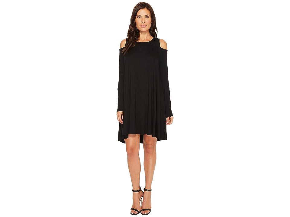 Karen Kane Cold Shoulder Maggie Dress (Black) Women