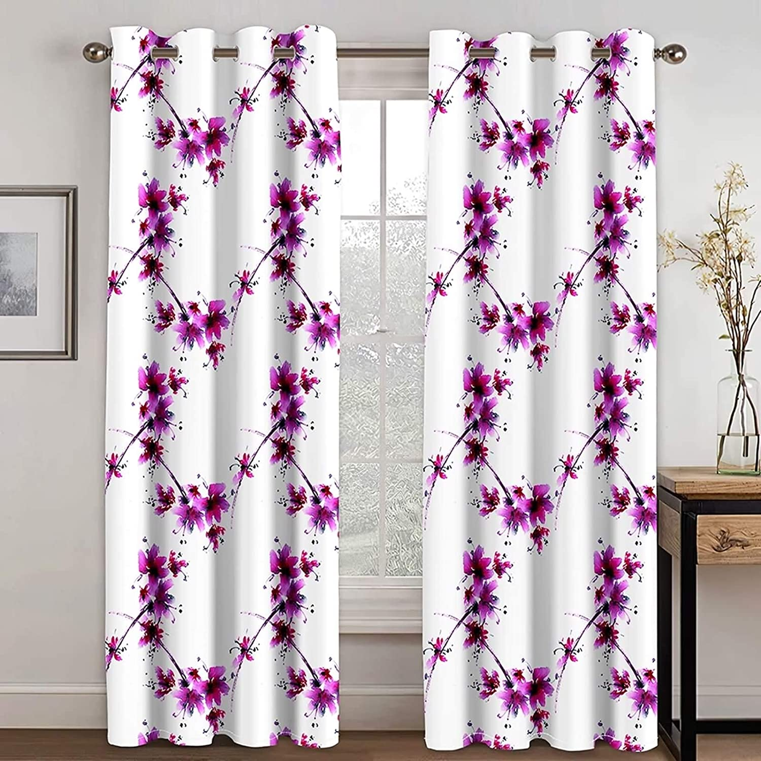 Daesar Ranking TOP10 Blackout Drapes 2 Panel Bedroom for Attention brand Flowe Curtain