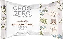 ChocZero's White Chocolate Chips - No Sugar Added, Low Carb, Keto Friendly, 7Oz