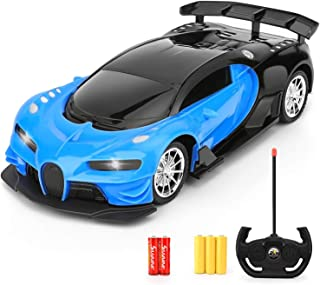 Remote Control Car - 1/16 Scale Blue Remote Toy Racing, with Led Lights High Speed RC Toys Car for Kid 3 4 5 6 7 8 9 Year ...