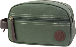 Timberland Men's Toiletry Bag Canvas Travel Kit Organizer, Olive, One Size