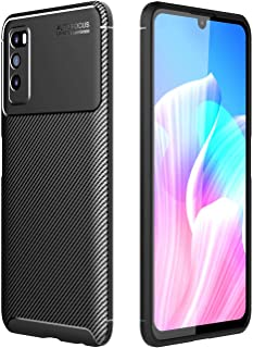 Soosos Case for Huawei Enjoy 20 Pro Case Carbon Fiber Ultra thin TPU Soft Silicone Shockproof Anti-fall Cell phone Protect...