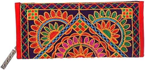 Craft Trade Women s Clutch Bag Rajasthani Work Stylish Hand Purse Wallet Gift for Girlfriend Sister Mother