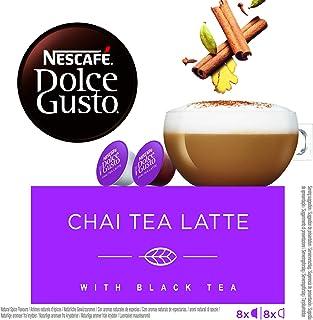 NESCAFÉ Dolce Gusto Chai Tea Latte, Pack de 3 x 16 Cápsulas - Total: 48 Cápsulas de té