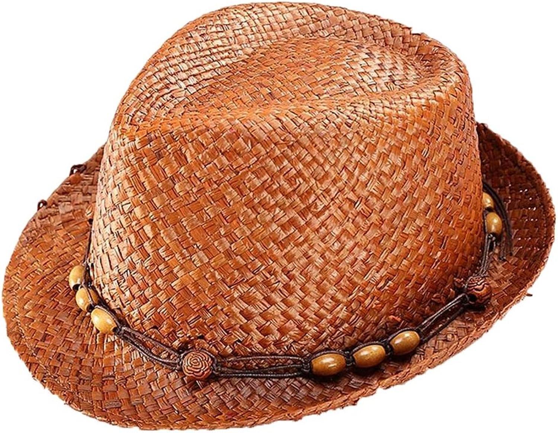 Women's Hat Straw Hat Men Sunshade Sun Predection Ornaments Beaded Hat