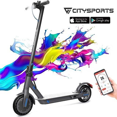 citysports monopattino elettrico e-scooter pieghevole bluetooth