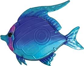 Creekwood Fish Glass/Metal Wall Art Decoration-Blue (2 x 33 x 25 cm)