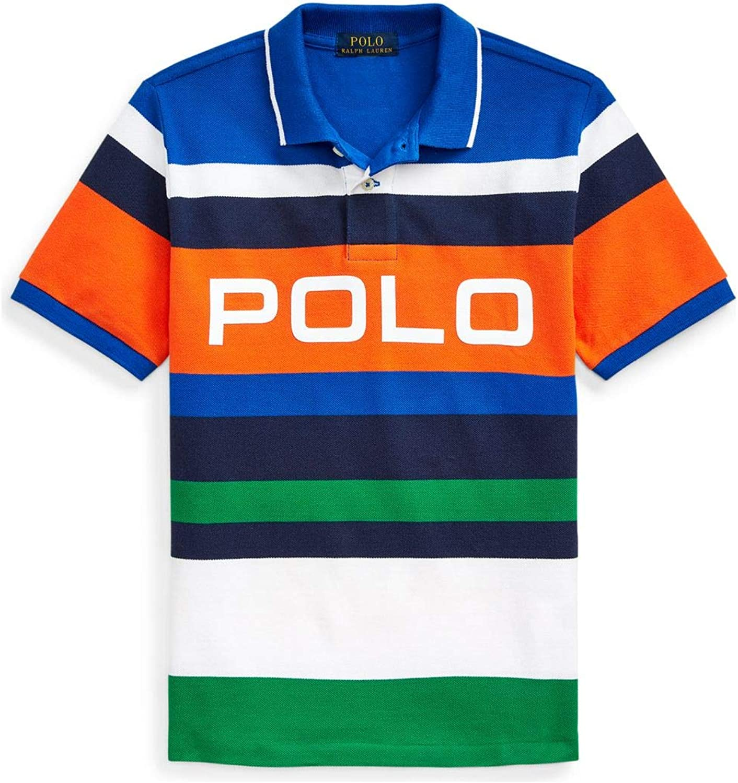 Polo Ralph Lauren Boy`s Striped Cotton Mesh Polo Shirt