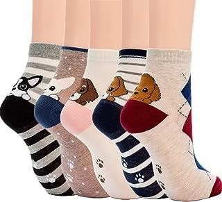 Womens Socks Cactus Crew Socks Gifts Cotton Long Funny Socks for Women Novelty Funky Cute Cartoon Socks 5 Pairs WCS1-Cactus