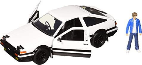 Jada New DIECAST Toys CAR 1:24 W/B - Metals - Hollywood Rides - Initial D: First Stage - Toyota Trueno & Takumi Figure 99733, White