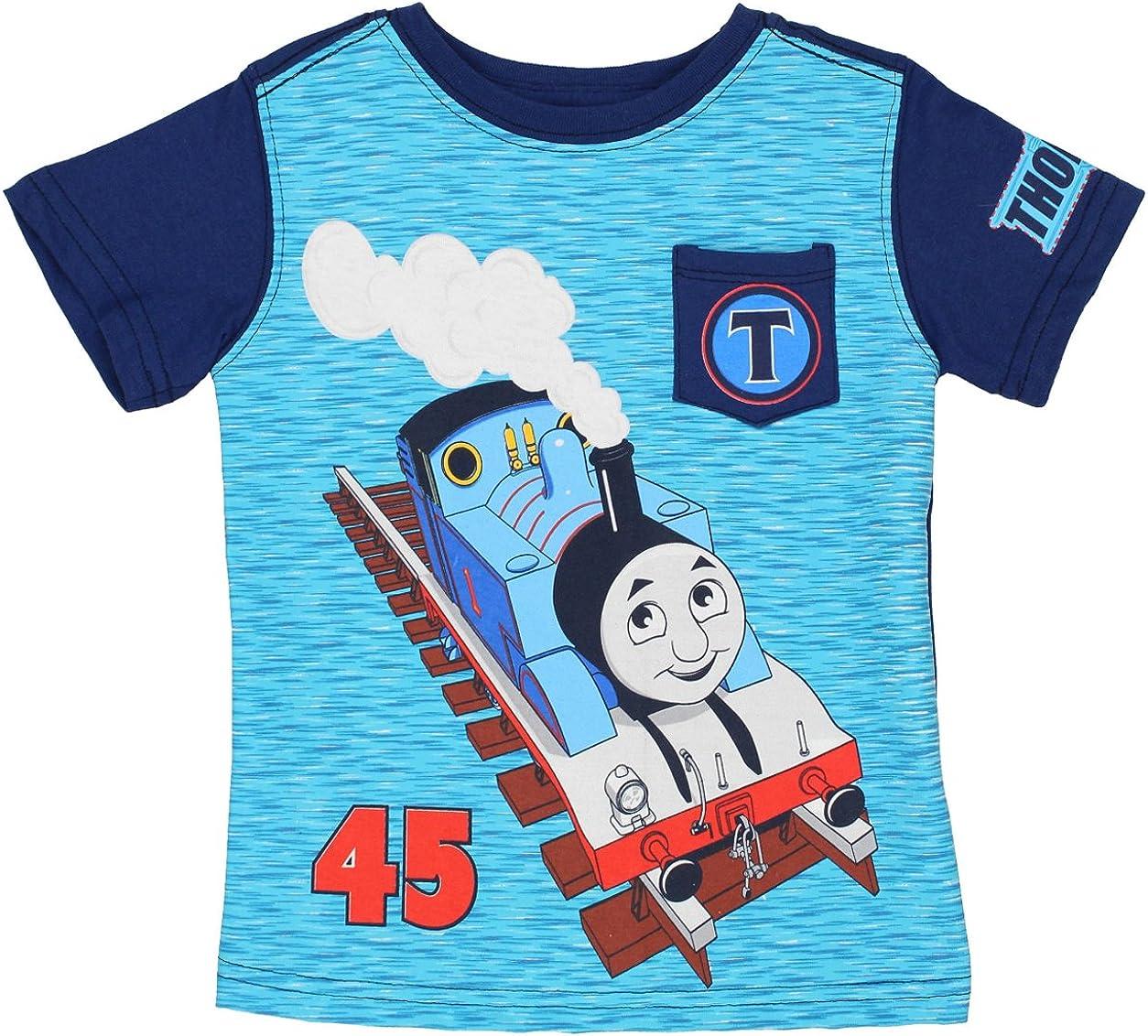 Thomas & Friends Short Sleeve Tee (4T, Navy/Blue Thomas)