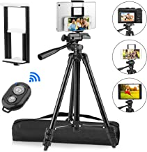 "PEYOU Compatible for iPad iPhone Tripod, 50"" Lightweight Aluminum Phone Camera.."