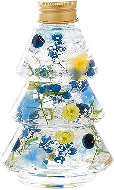 花まりか 母の日 ギフト ハーバリウム ミニカーネーションのふわふわハーバリウム 花 プレゼント (ブルー)