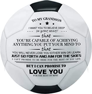 Kenon Printed Soccer Ball/Football Toy to Your Son - Anniversary Birthday Wedding Graduation Gifts - Perfect for Outdoor & Indoor Match or Game