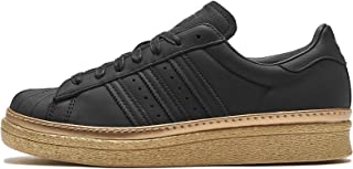 adidas Womens Originals Superstar 80s New Bold Trainers Sneakers in core Black/Gold Metallic.