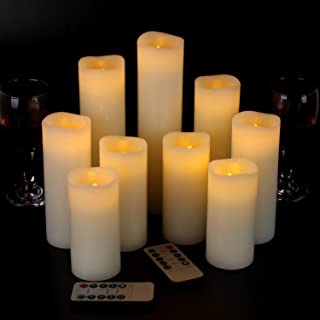 Flameless Candles Led Candles Set of 9(H 4